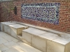 Tile wall and fountain